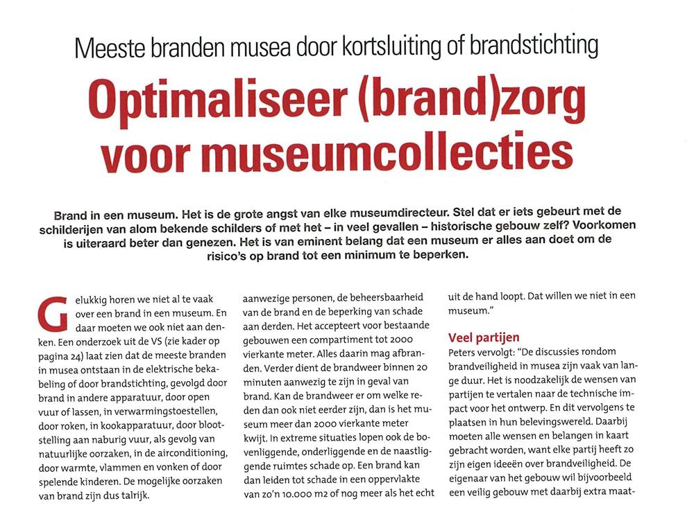 Brandzorg museumcollecties | DGMR