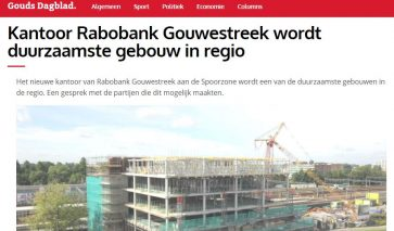 Kantoor Rabobank Gouwestreek duurzaamste | DGMR