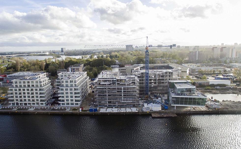 Bouw kantoor Cruquiuskade Amsterdam   DGMR