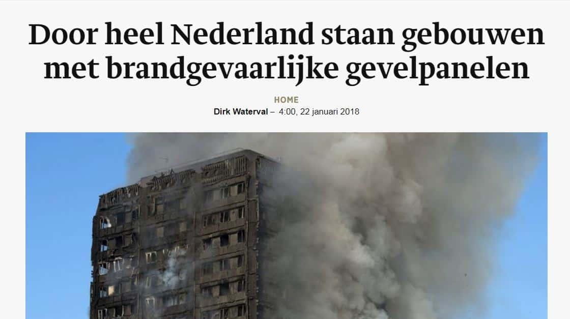 Nederlandse gebouwen met risicopanelen   DGMR
