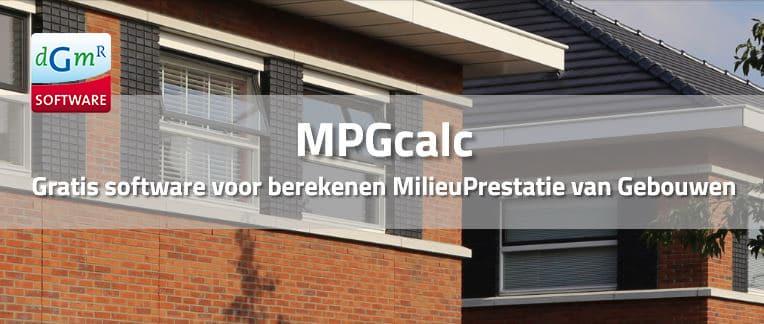 Milieuprestatie gebouwen berekenen MPGcalc | DGMR