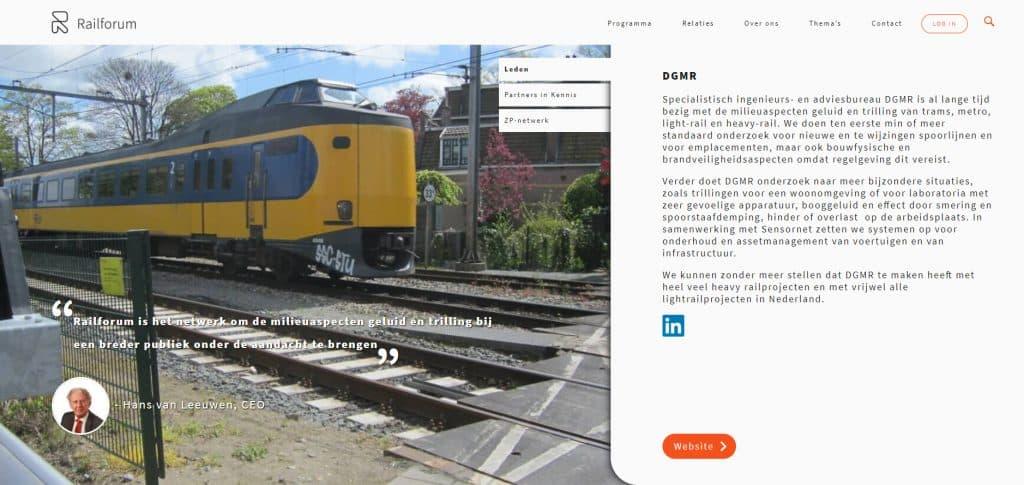 DGMR-pagina op Railforum