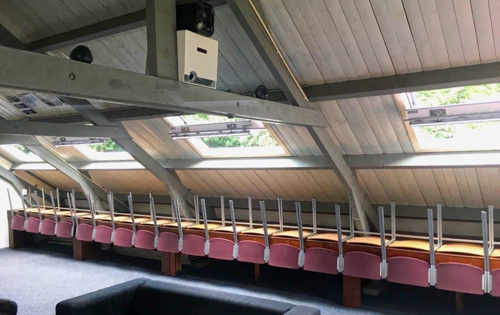Interieur Schelphoek met nieuwe dakramen