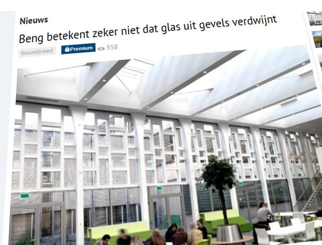 artikel BENT betekent zeker niet dat glas uit gevels verdwijnt
