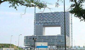 Buitenzijde gebouw Pontsteiger Amsterdam