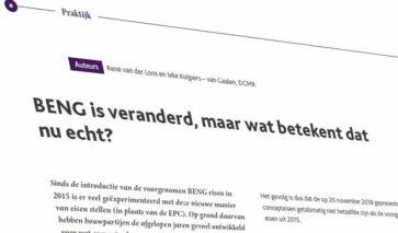 DGMR-artikel over verandering van BENG, tvvl magazine