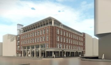 Hoek renovatie C&A-pand Vredenburg