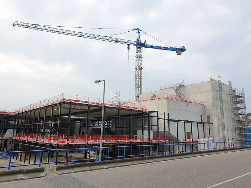 Ruwbouw van Kunstenpand Rotterdam
