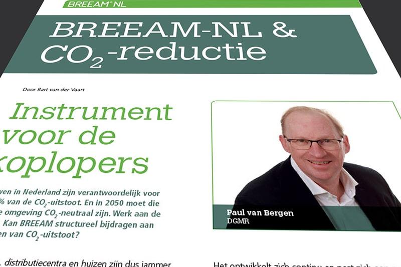 Interview over CO2-reductie in BREEAM Magazine