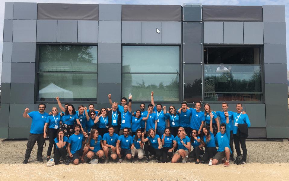 MOR-team van de TU Delft tijdens Solar Decathlon Europe 2019