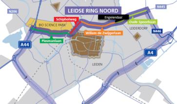 Plattegrond van Leidse Ring Noord