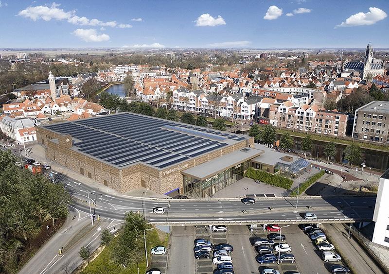 Winkelcentrum Pottenbakkerssingel in Middelburg verbruikt 40 procent minder energie