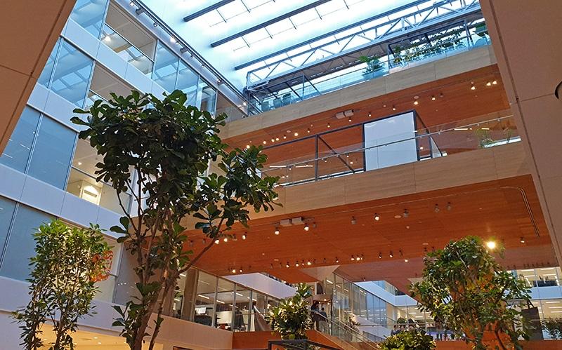 Atrium in het hoofdkantoor van ING