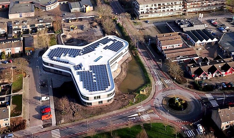 Ashram College vanuit de lucht