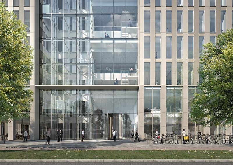 Entree van nieuwe VU-onderzoeksgebouw