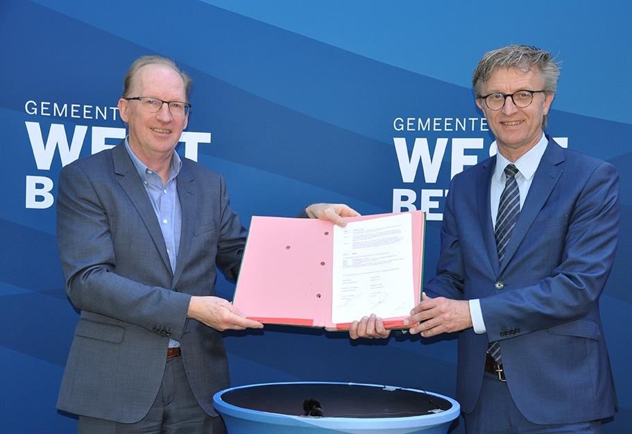Contract tussen DGMR en gemeente West Betuwe voor transformatie gemeentehuis Geldermalsen