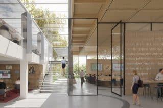 Impressie van interieur gemeentehuis West Betuwe