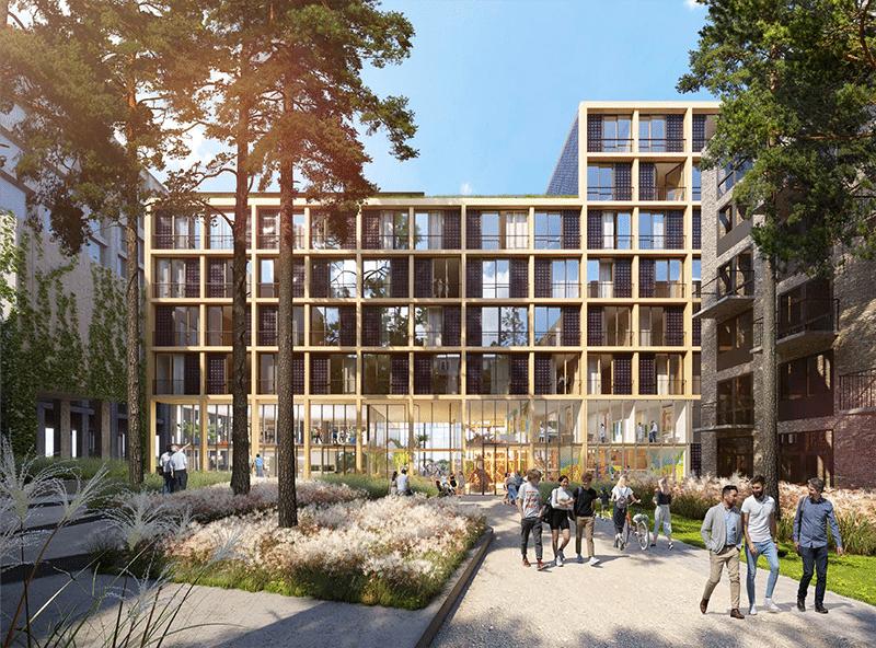 Eerste houten woongebouw met seniorenwoningen op IJburg | DGMR