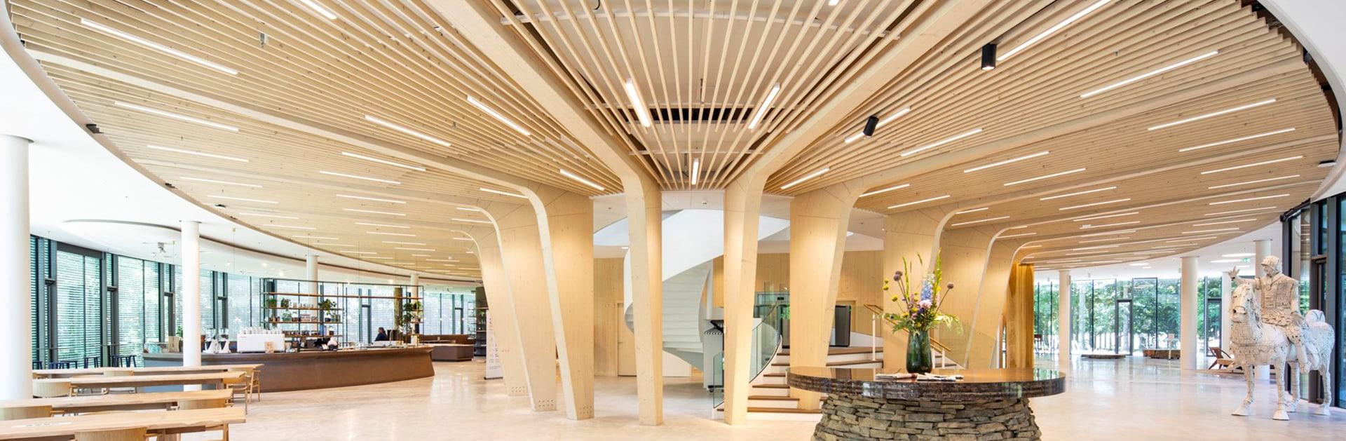 Circulariteit bij houten kantoor Triodos Bank De Reehorst