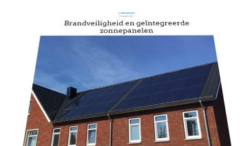 Geïntegreerde zonnepanelen en brandveiligheid