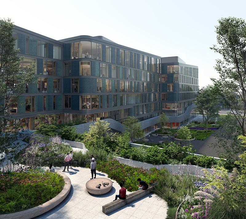 Mediavaert heet het nieuwe hout-hybride gebouw van DPG Media
