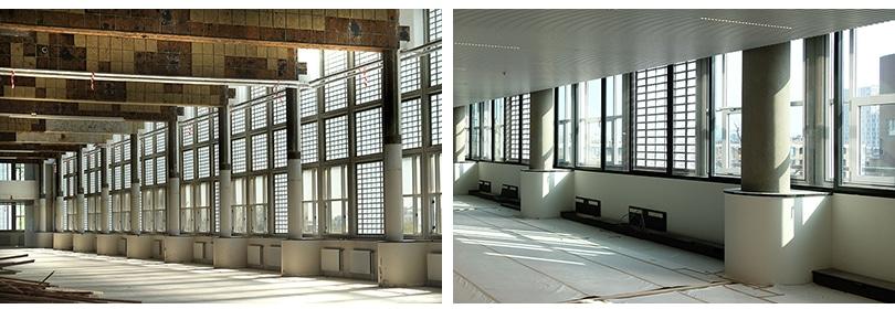 Transformatie van de gevel van Stationspostgebouw