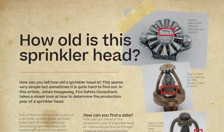 How old is this Sprinkler head? | DGMR