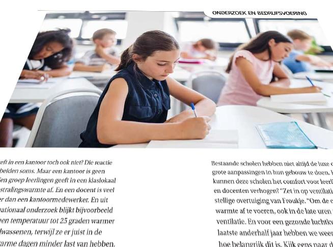 Oververhitting in schoolgebouwen   DGMR